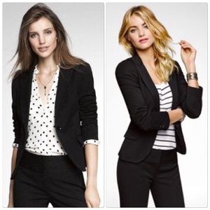 Express Black One Button Blazer